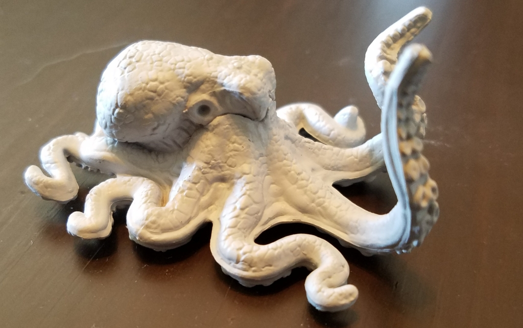 An octopus miniture