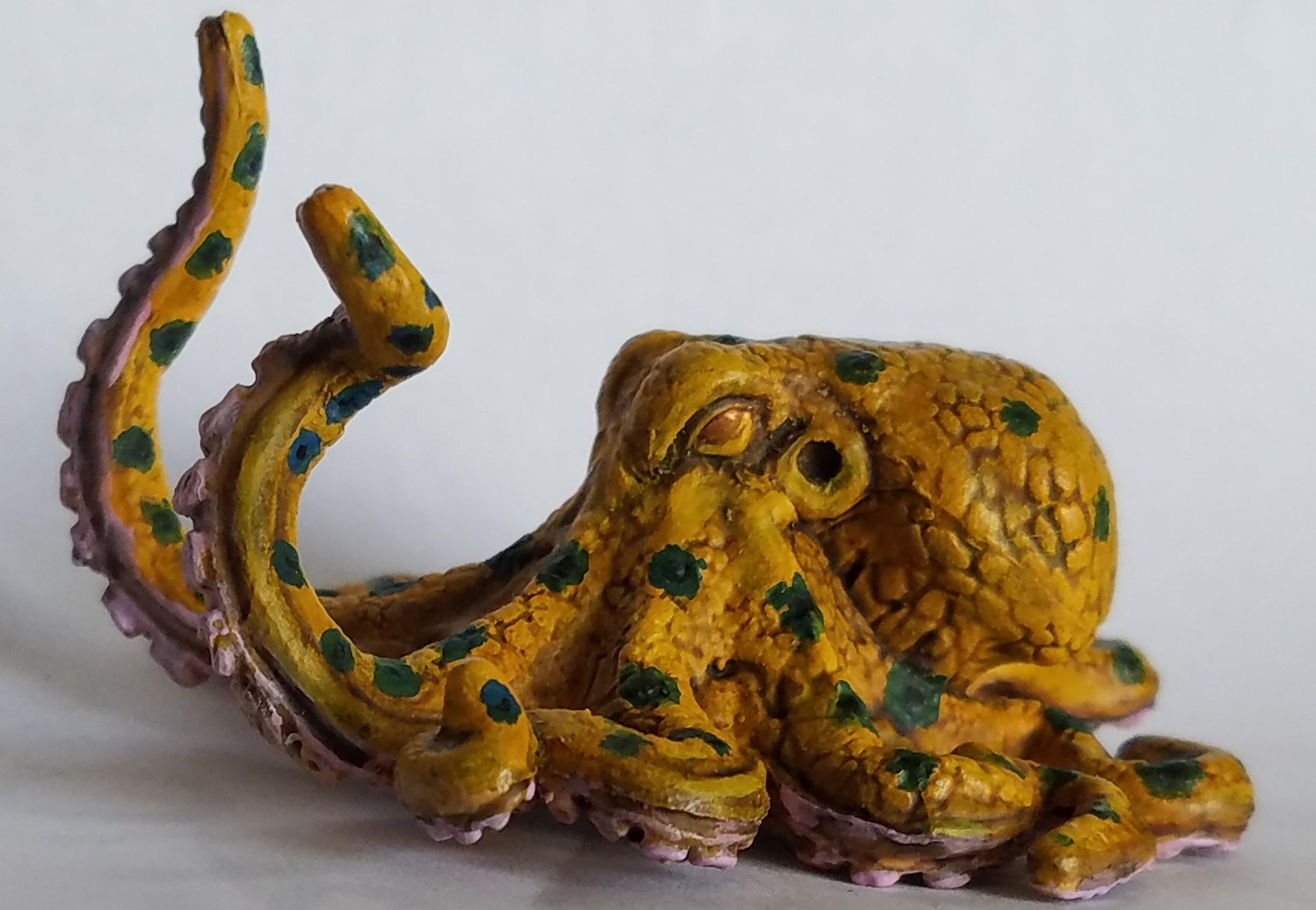 D&D Octopus miniature painted eye