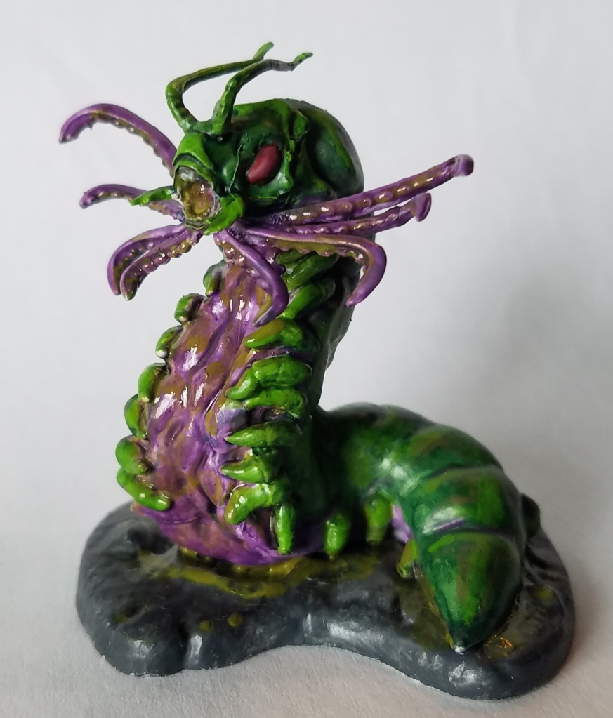 D&D Carrion Crawler painted.