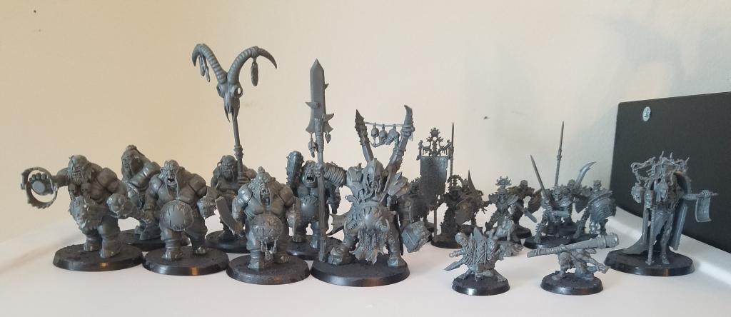 warhammer age of sigmar Feast of bones partially built