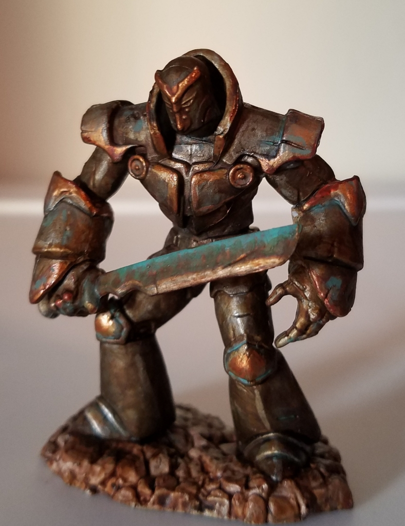 Painted D&D Iron Golem Miniature