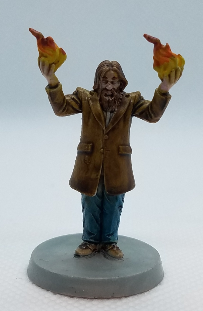Death May Die wizard miniature