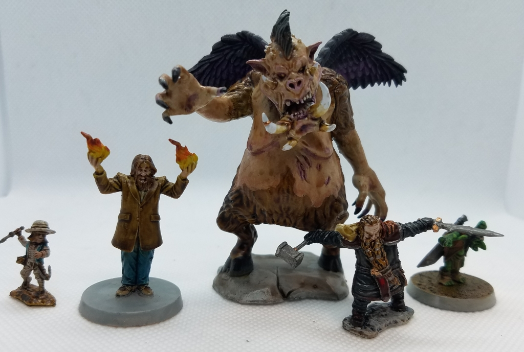 various painted gaming miniatures
