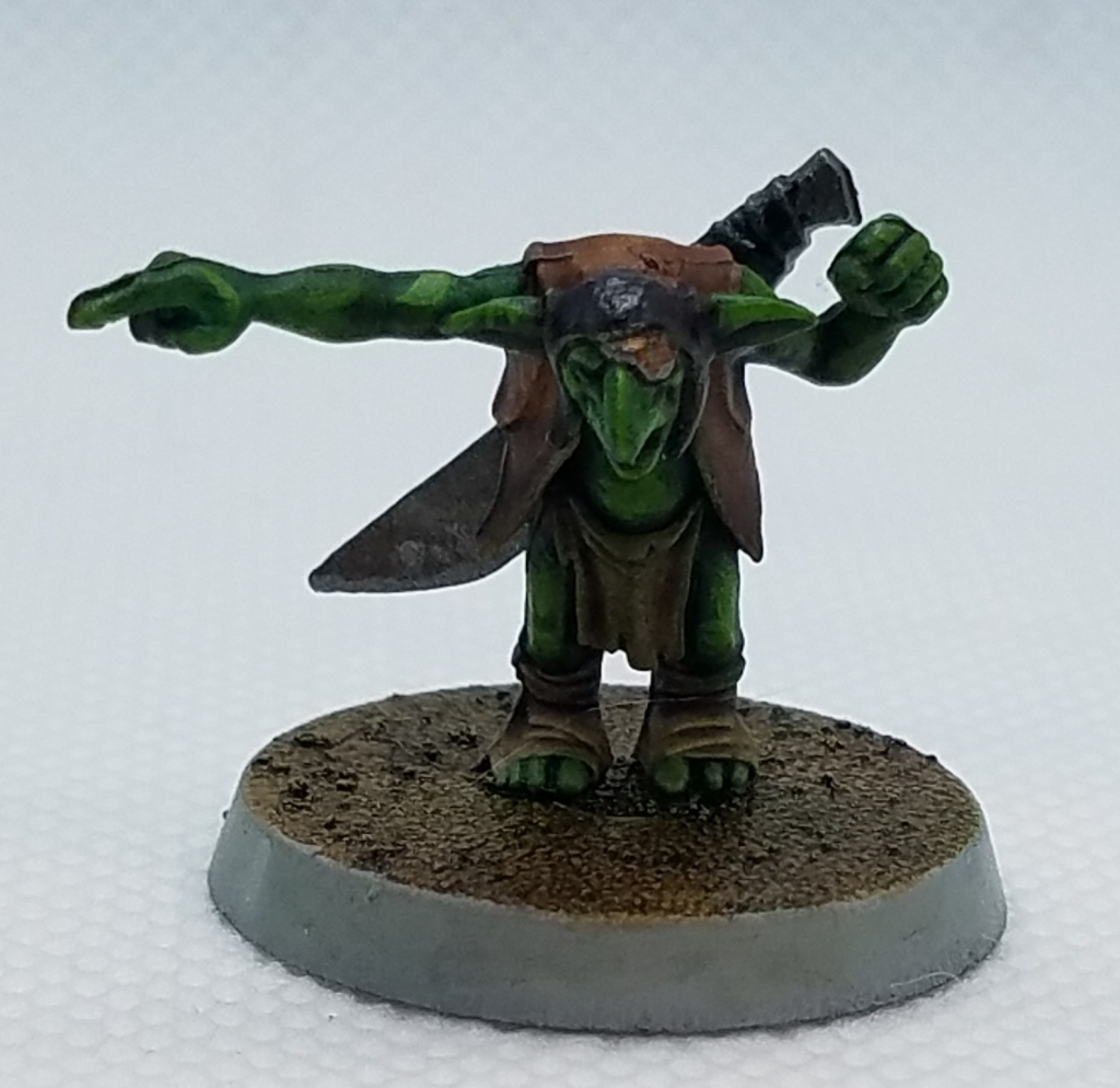 Games Workshop goblin. Painted AOS