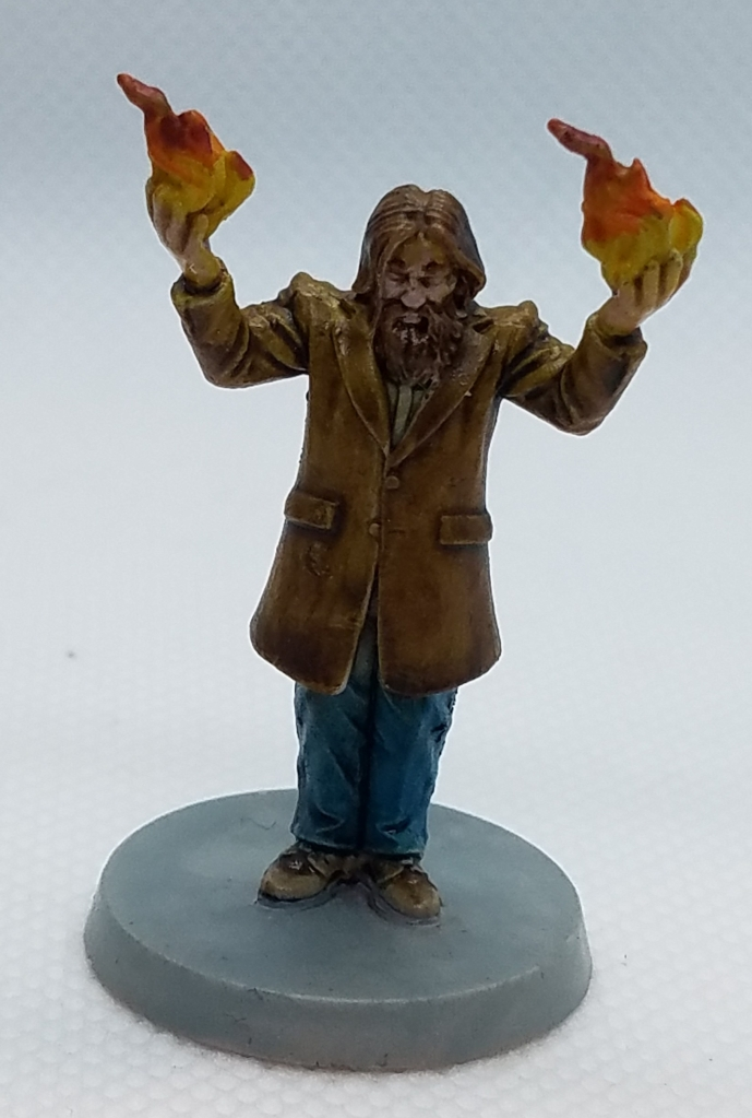 Death May Die Wizard mini painted.