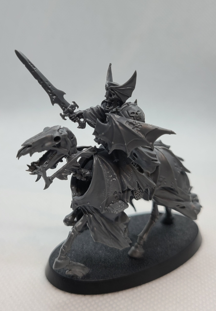 Unpainted Warhammer Black Knight mini